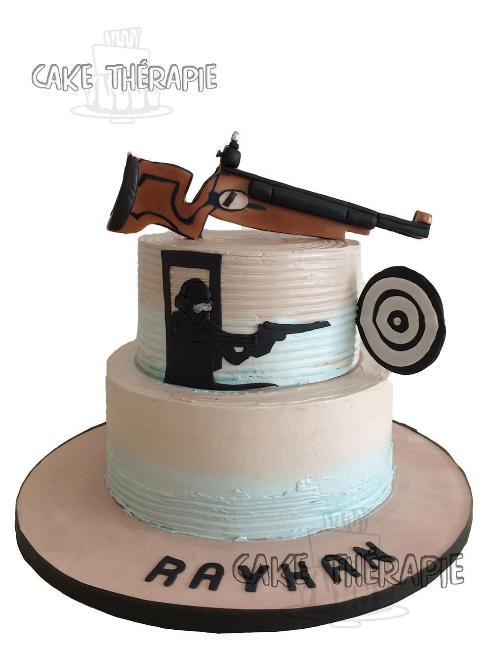 Shooting Range Hobby Cake