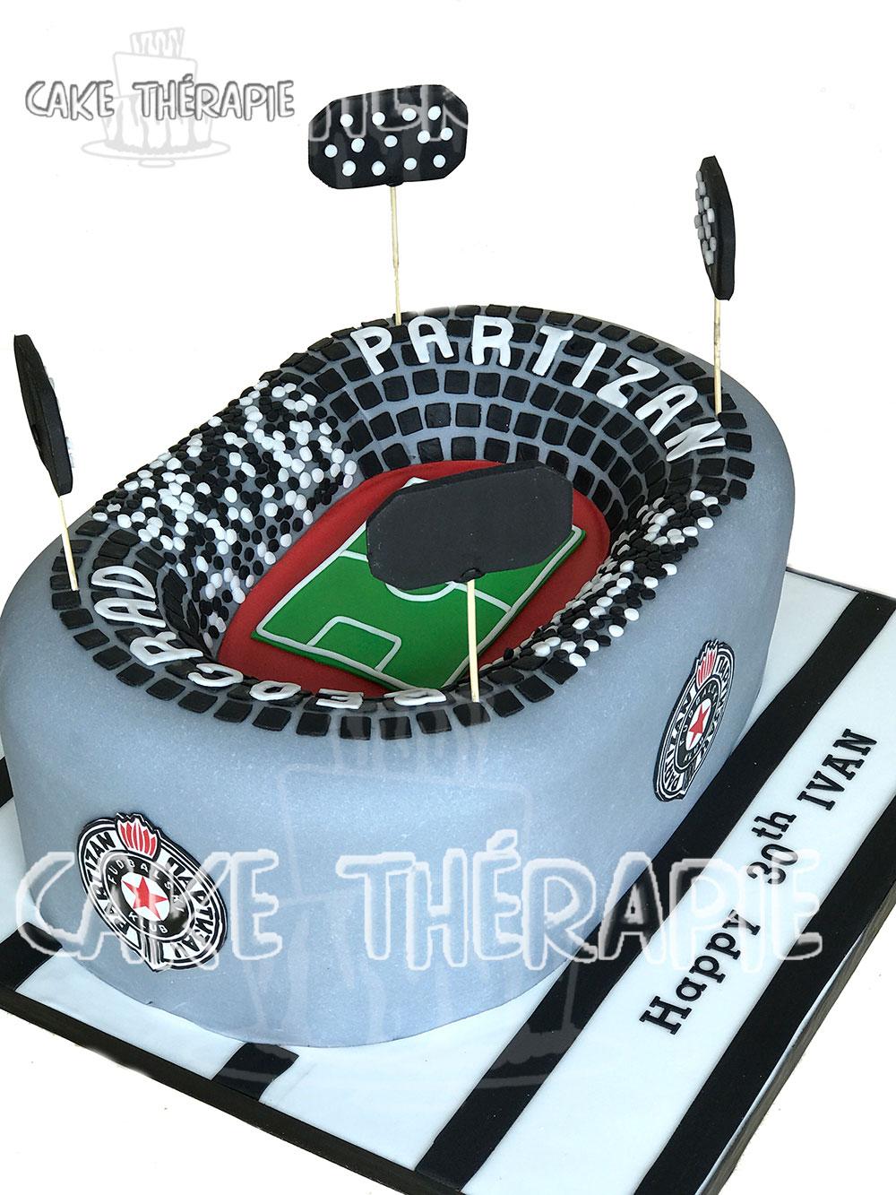 Football Stadium Cake