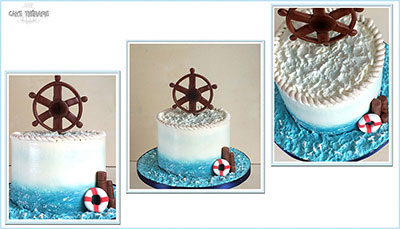 Nautical Cake, 50th Birthday